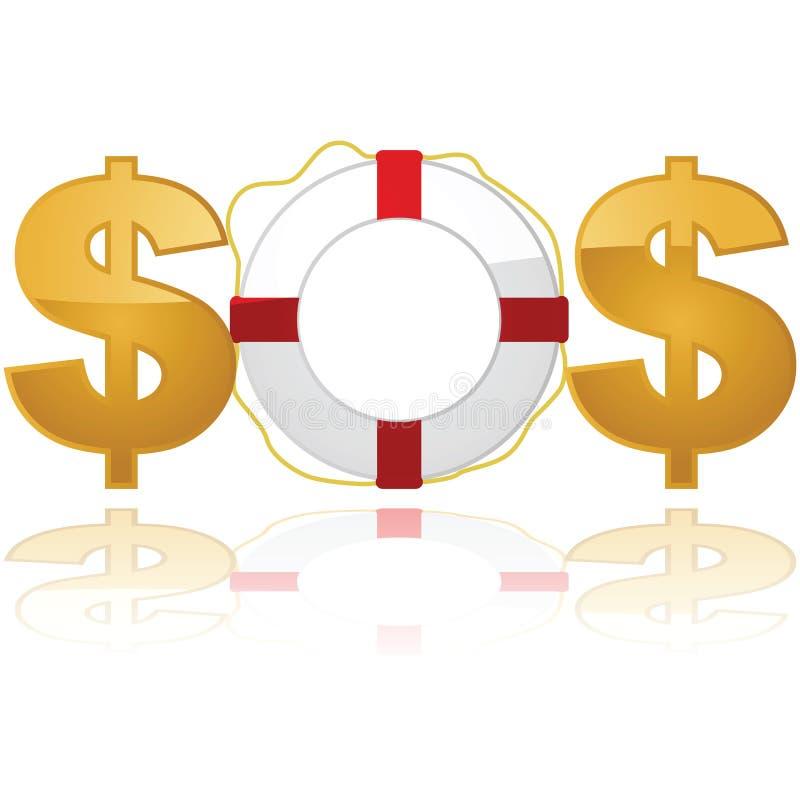 Salvataggio finanziario royalty illustrazione gratis