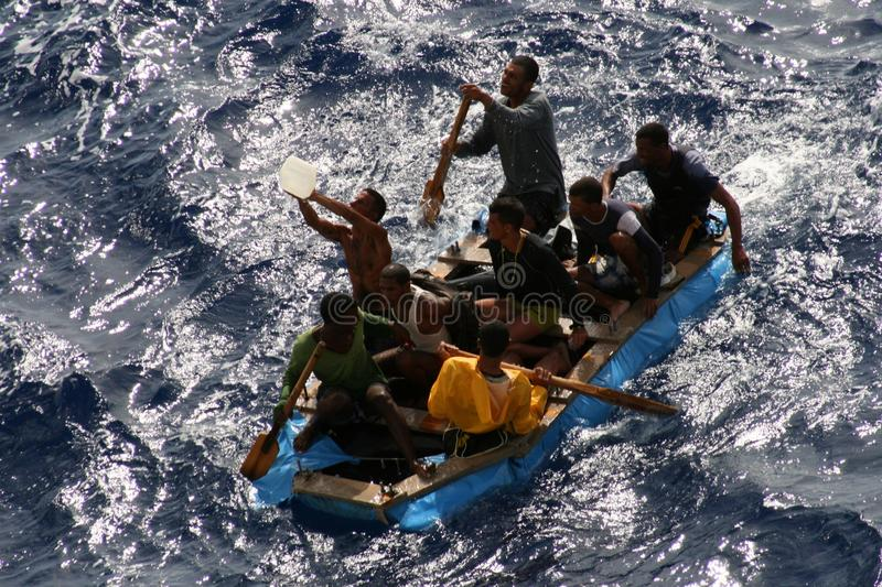 Salvataggio in mare immagini stock