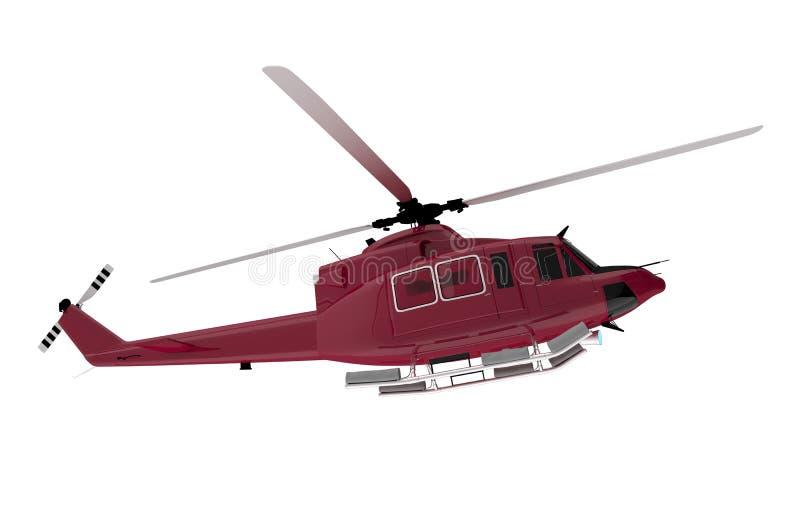 Salvataggio rosso Chopper Isolated illustrazione vettoriale