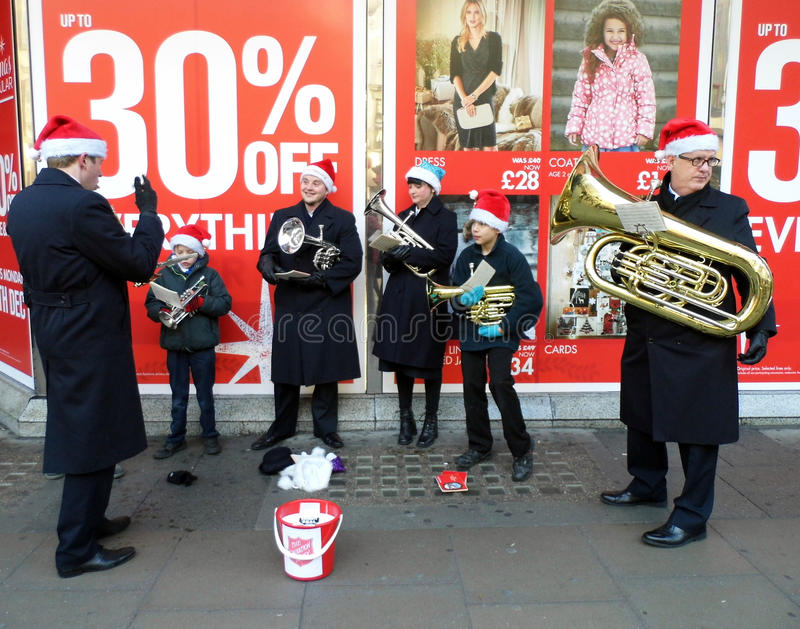 Salvation Army band stock photo