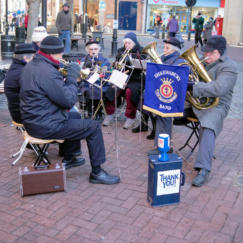 Salvation Army Brass Band Entertainers stock photo