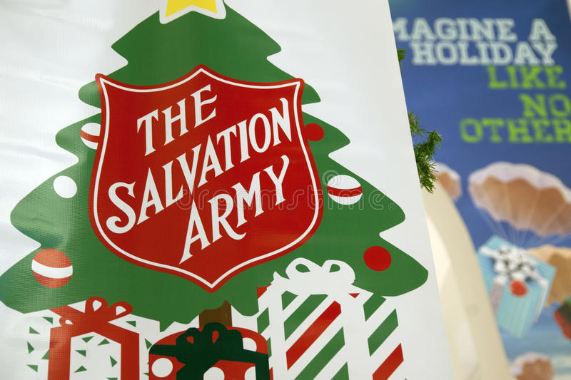 Salvation Army Giving Tree stock photos