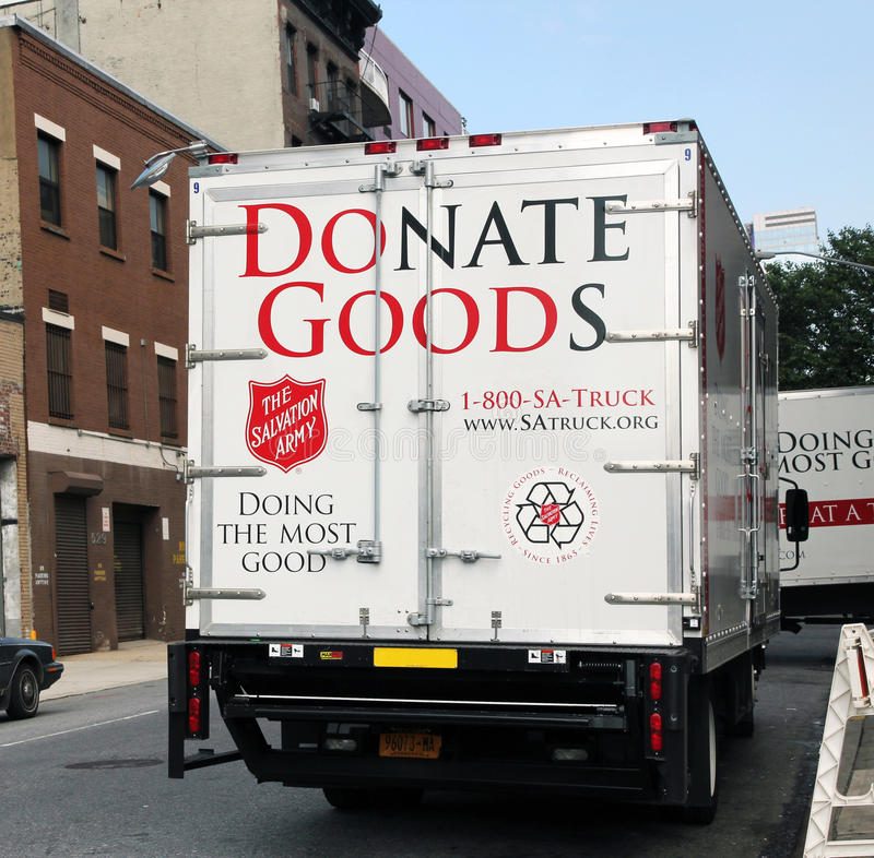 Salvation army pick-up truck. royalty free stock image