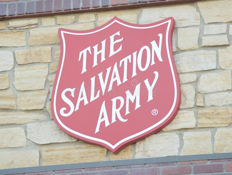 Salvation Army Sign stock image