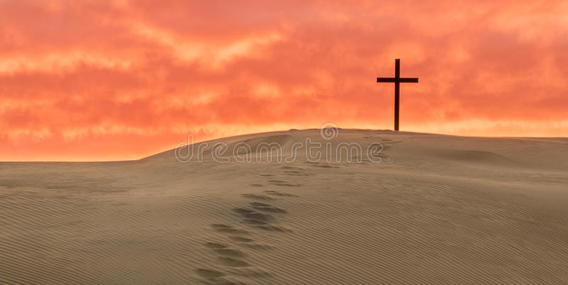 Salvation Foot Steps royalty free stock image