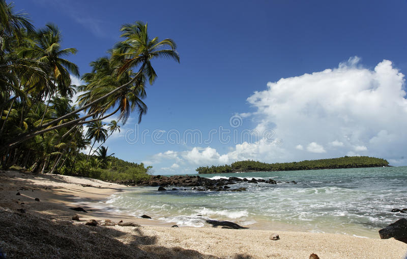 The salvation islands, french Guyana stock photos