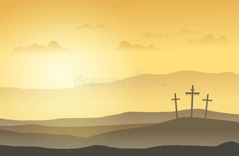 Download Salvation Land stock vector. Image of foggy, crosses - 23194773