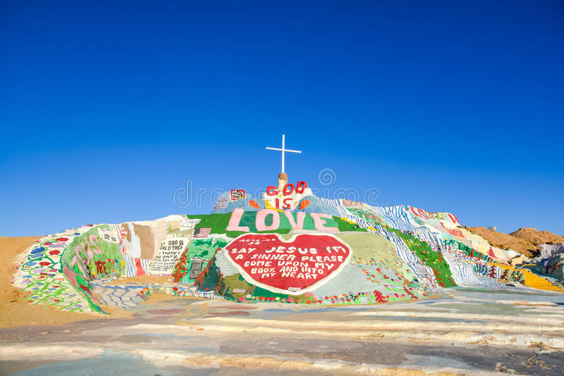 Salvation Mountain royalty free stock images