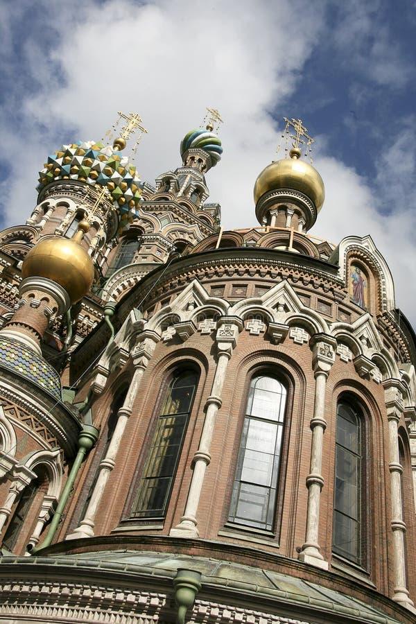 Salvatore della chiesa dell'anima St Petersburg immagini stock libere da diritti