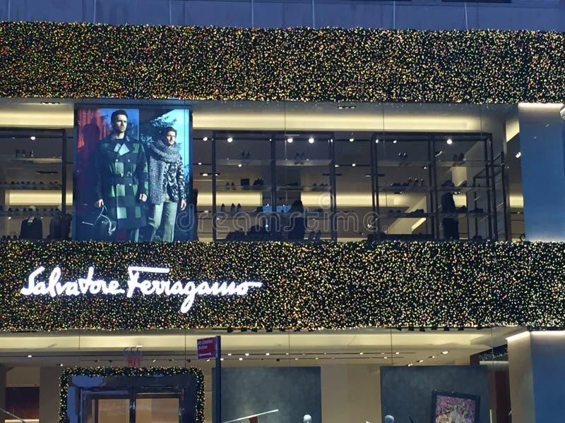 Salvatore Ferragamo-Flagship-Store in New York lizenzfreies stockbild