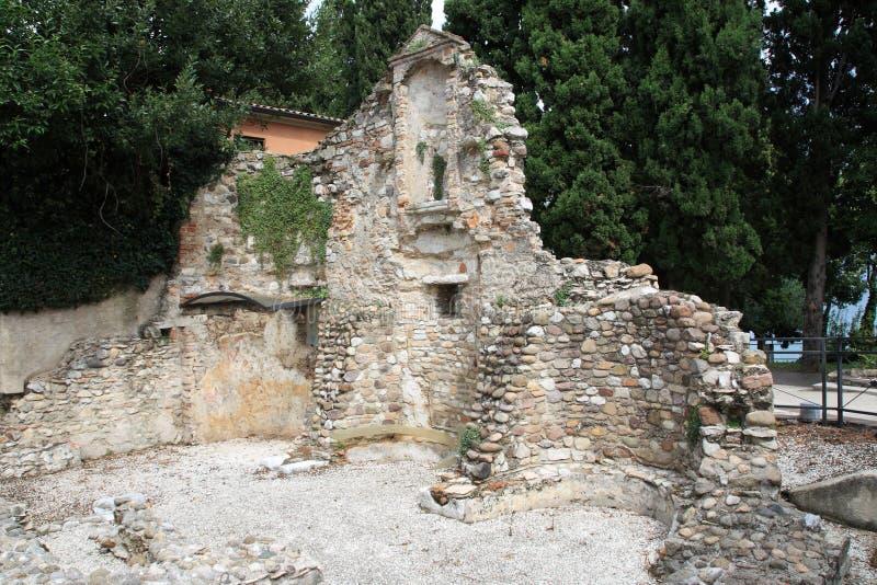Salvatori de San de la ruina de la iglesia fotografía de archivo libre de regalías