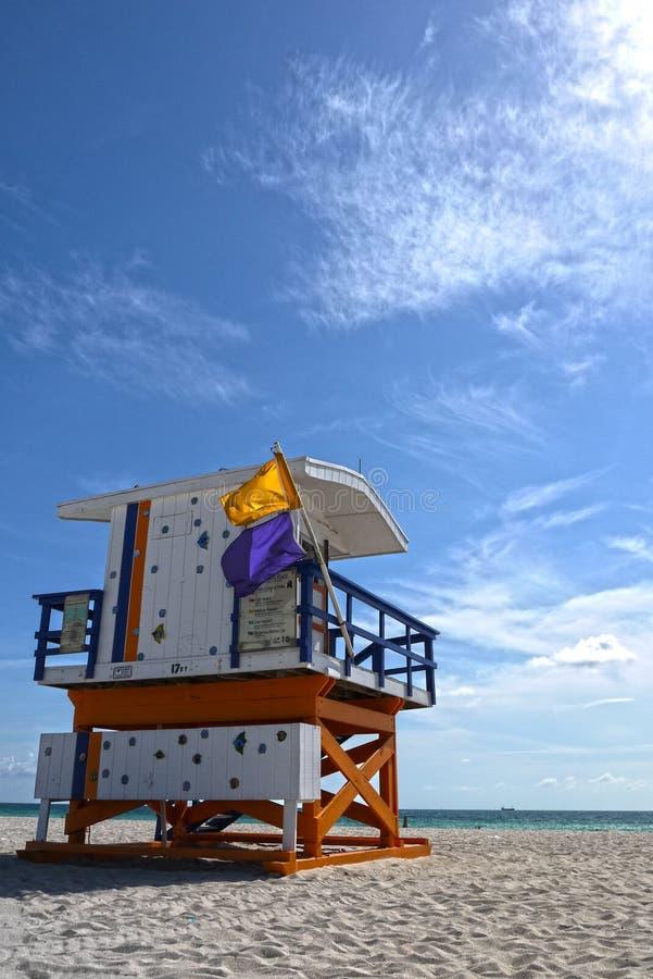 Salvavidas de Miami Beach, los E.E.U.U. fotografía de archivo