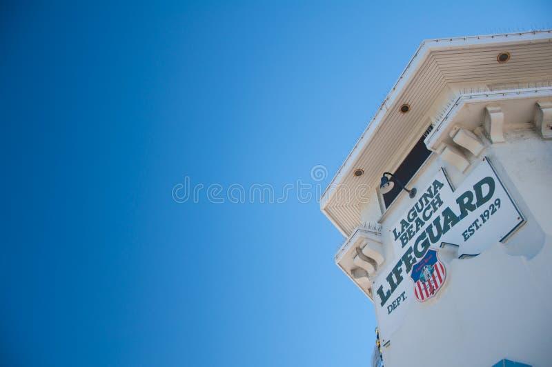 Salvavidas del Laguna Beach imagen de archivo