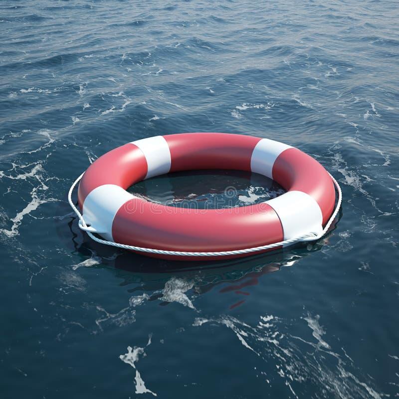 Salvavidas en el mar ilustración del vector