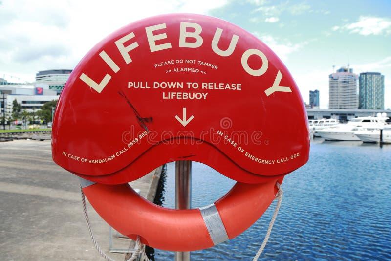 Salvavidas en Victoria Harbor en Melbourne fotografía de archivo libre de regalías