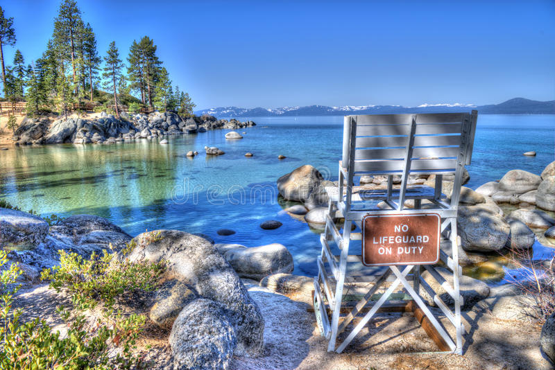 Salvavidas Lake Tahoe fotografía de archivo