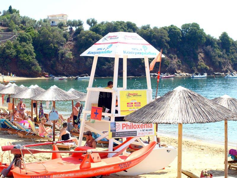 Download Salvavidas, Playa De Achladia, Skiathos Foto editorial - Imagen de seguridad, playa: 41907791