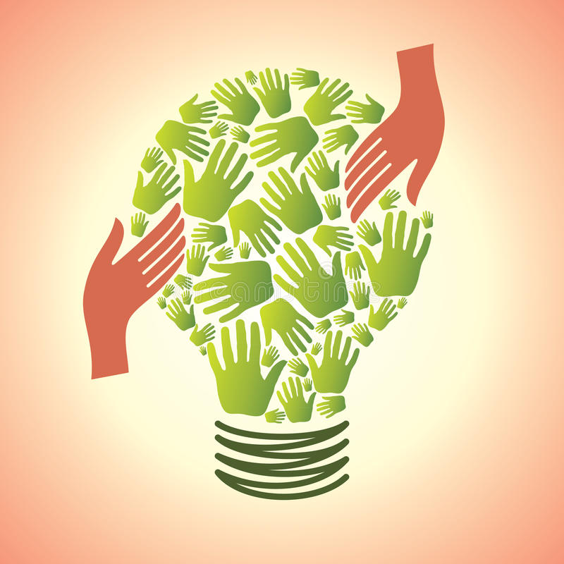 Salve la energía stock de ilustración
