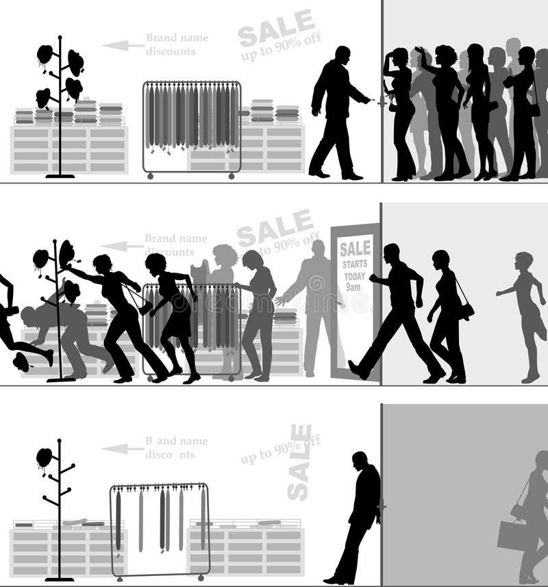 Salve la venta stock de ilustración