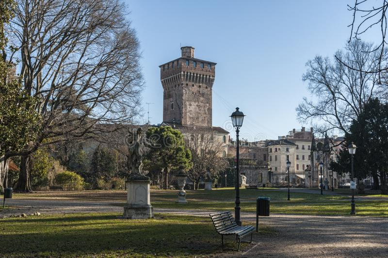 Salvi Gardens Giardini Salvi, igualmente conhecido como os jardins de Valmarana Salvi é um jardim público, Vicenza imagem de stock royalty free