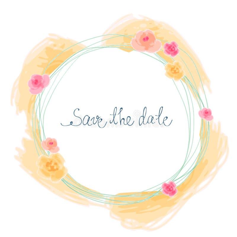 Salvi la scheda di data royalty illustrazione gratis