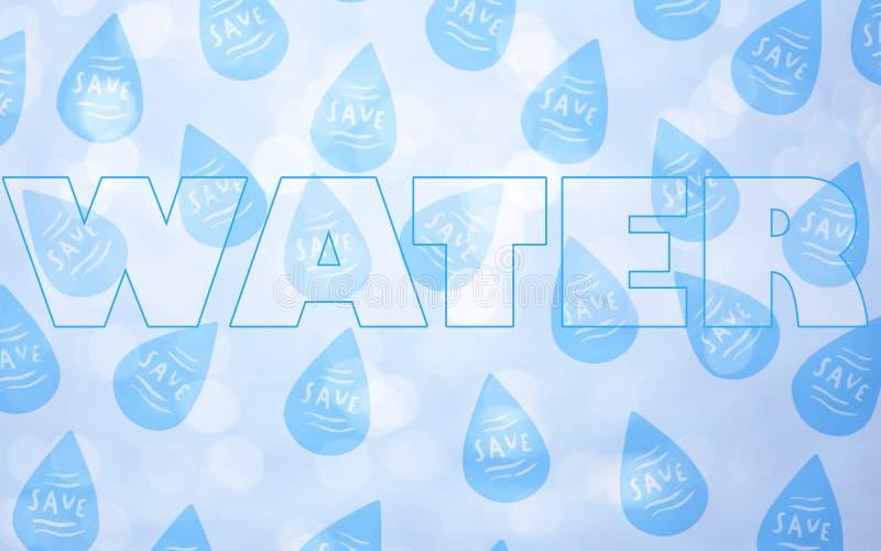 Salvo il concetto dell'acqua immagine stock