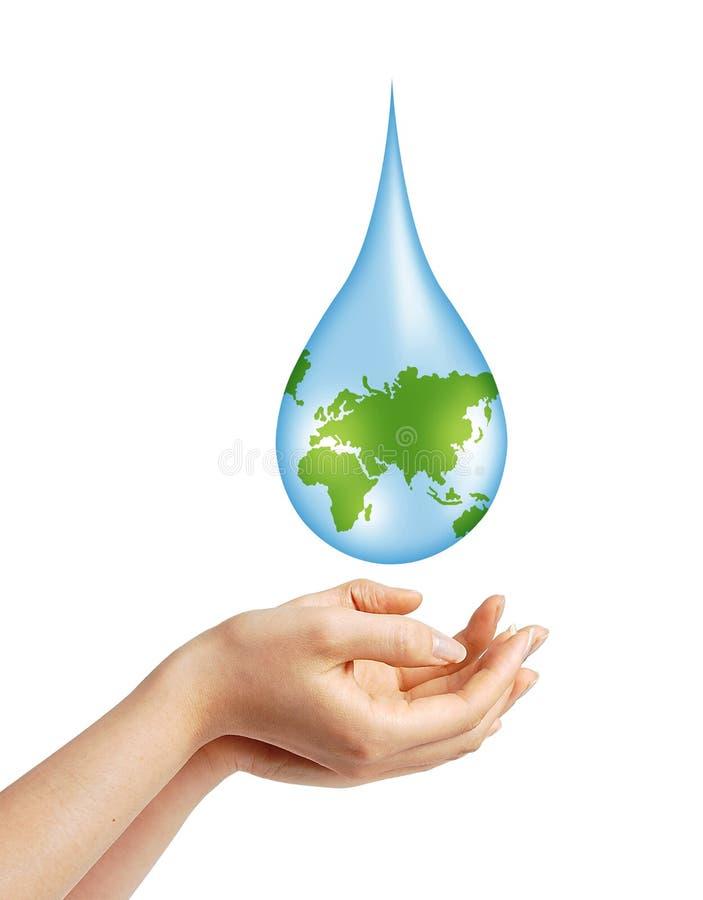 Salvo il concetto dell'acqua della terra illustrazione di stock