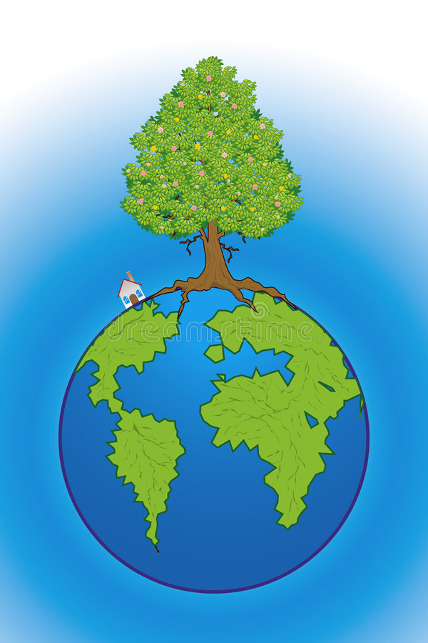Salvo il nostro pianeta illustrazione di stock