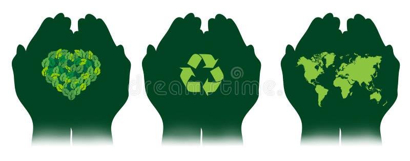 Salvo il verde illustrazione vettoriale