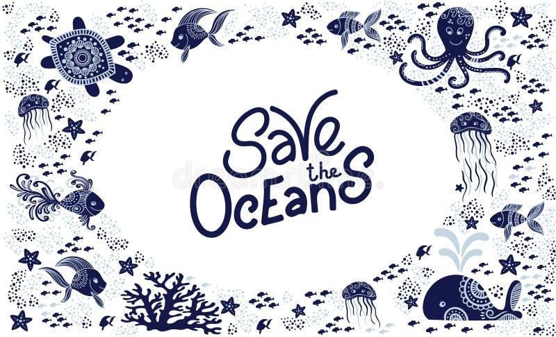 Salvo l'oceano immagini stock