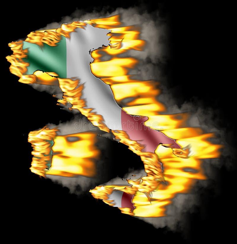 Salvo la nazione Italia AntiFire del ur royalty illustrazione gratis