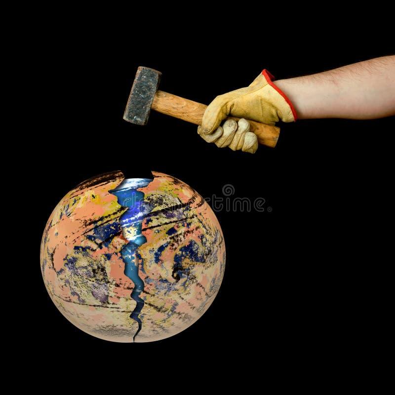 Salvo la terra immagine stock libera da diritti