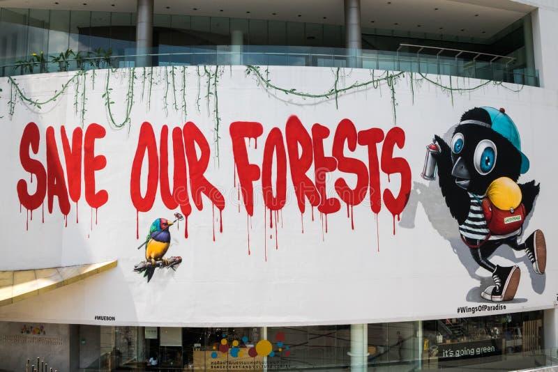Salvo nossas florestas assine imagens de stock royalty free