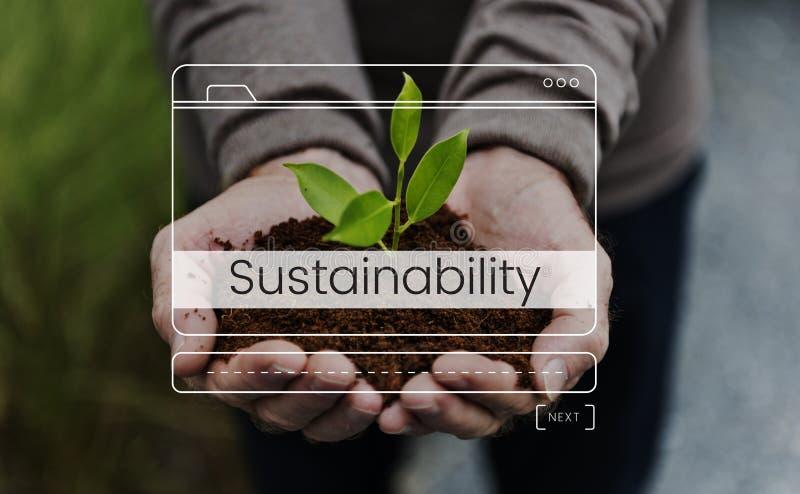 Salvo o gráfico da sustentabilidade do ambiente da natureza do mundo imagem de stock royalty free