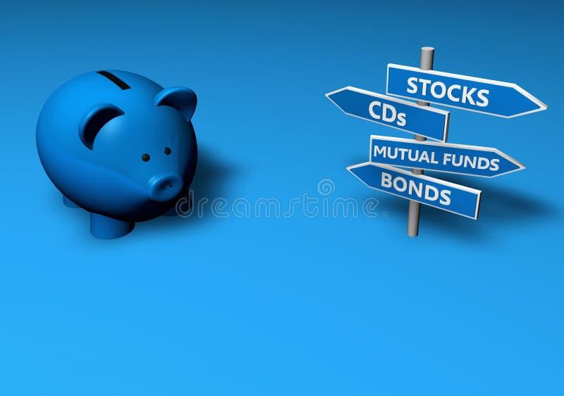 Salvo o investa illustrazione di stock