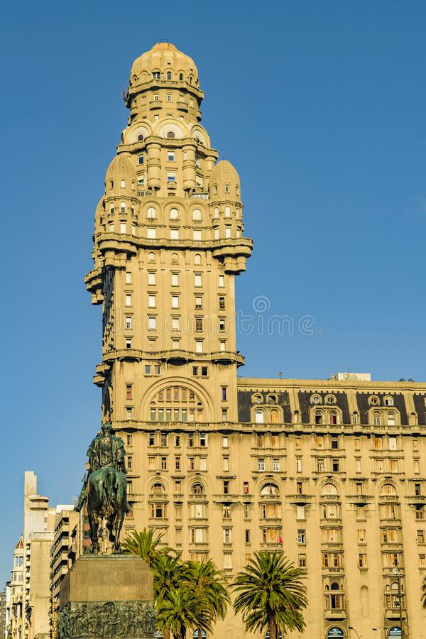 Salvo Palace, Montevideo, Uruguai fotos de stock