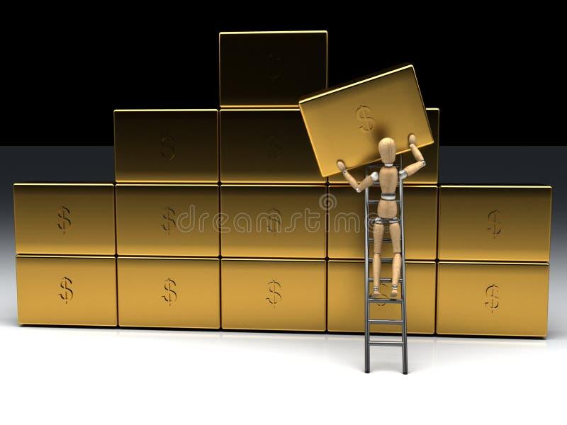 Salvo soldi illustrazione di stock
