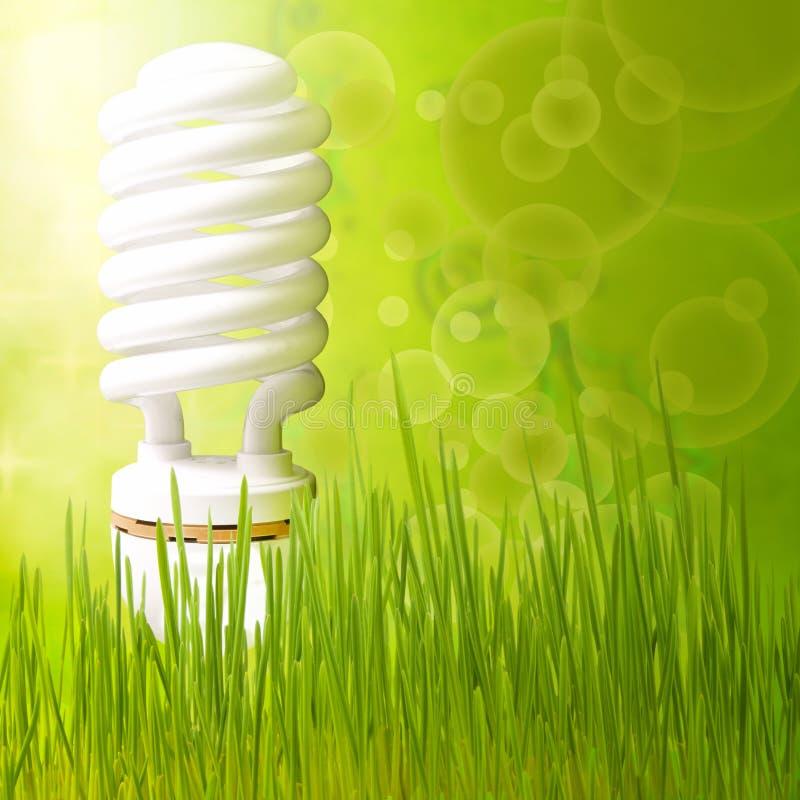 Salvo verde dell'estratto della priorità bassa di concetto di energia fotografia stock libera da diritti