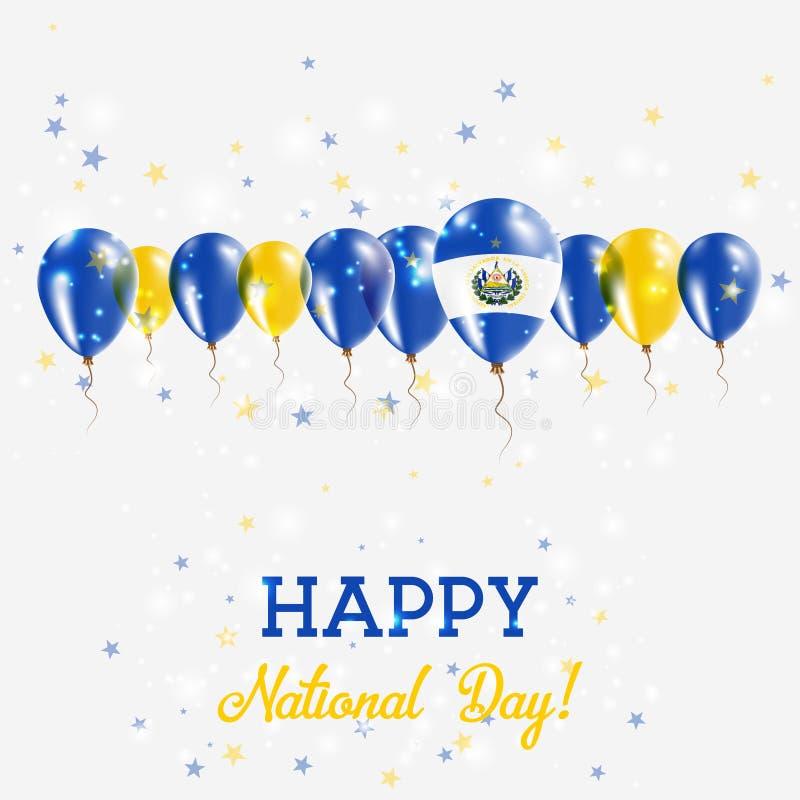Salwador dnia niepodległości Błyskać Patriotyczny ilustracji