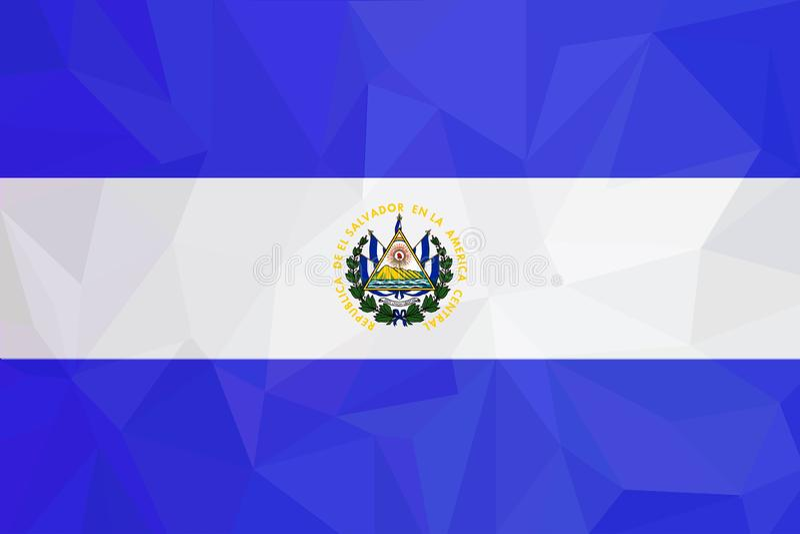Salwador flaga - Wektorowa Ilustracyjna Wektorowa ilustracja Salwador flagi ikona royalty ilustracja