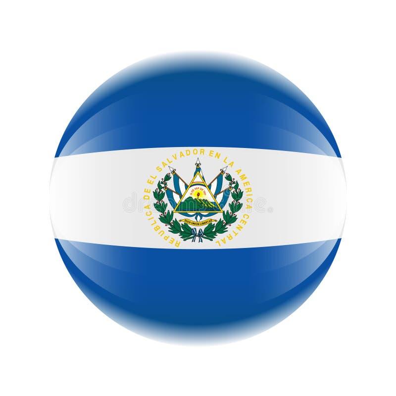 Salwador flagi ikona w postaci piłki ilustracji