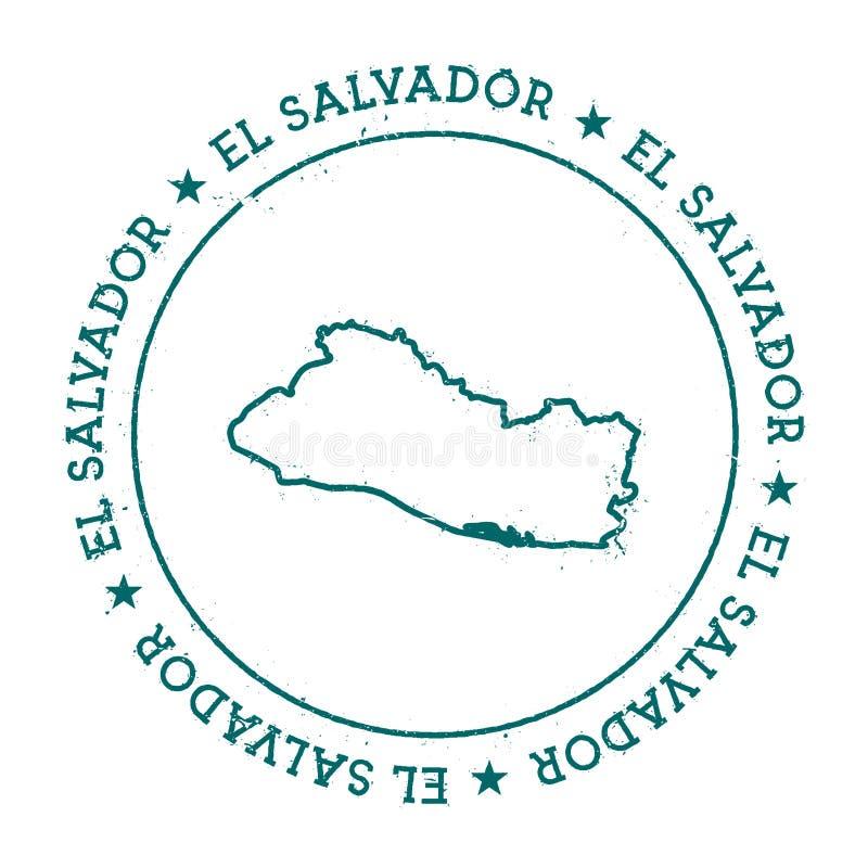 Salwador wektorowa mapa ilustracji