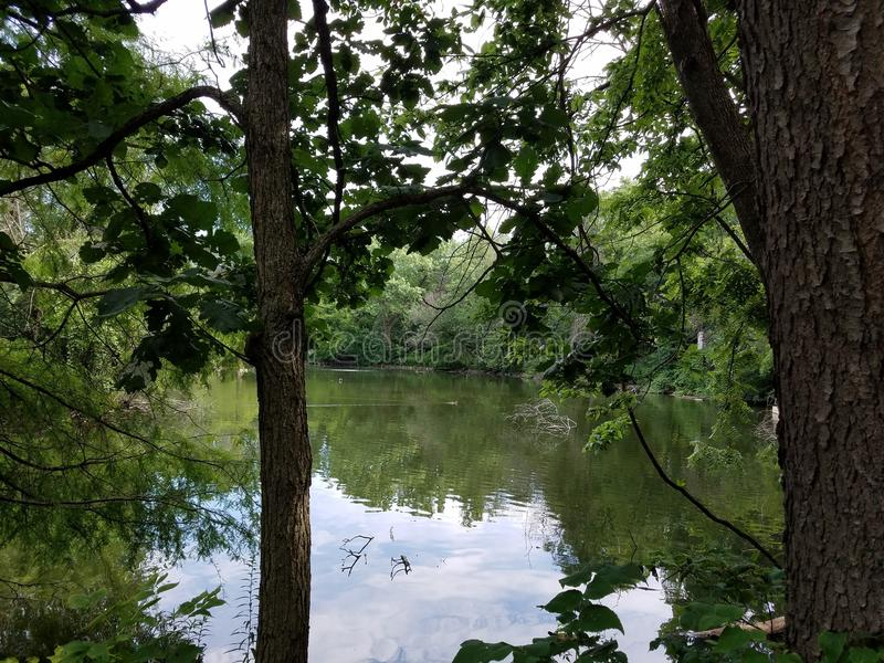 Salz-Creek See stockbilder