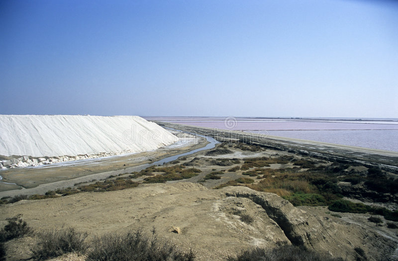 Salz-Ernte lizenzfreies stockfoto