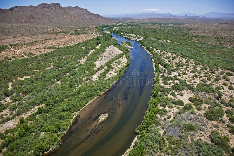 Salz-Fluss stockfoto