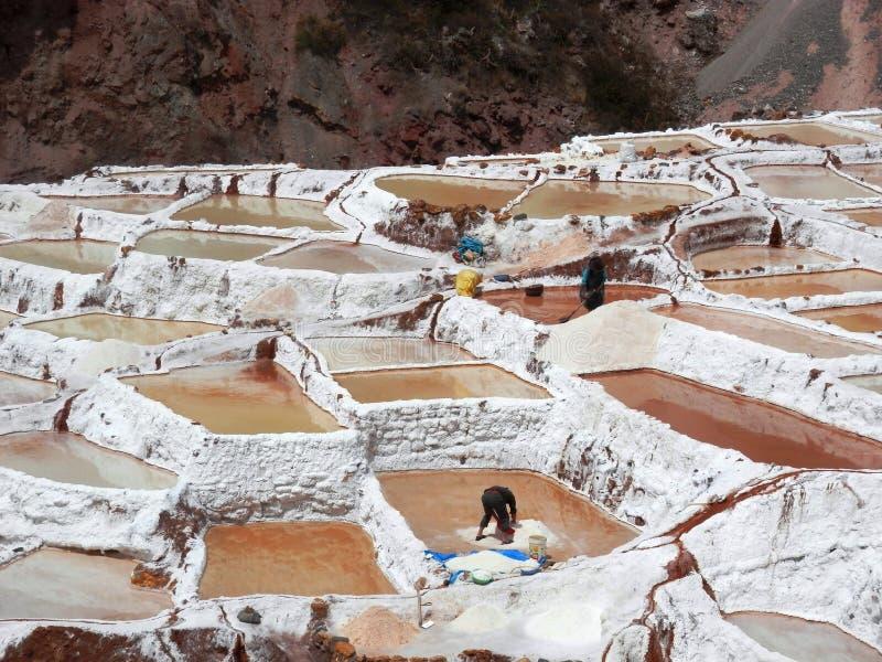 Salz-Herstellung des Prozesses stockbild