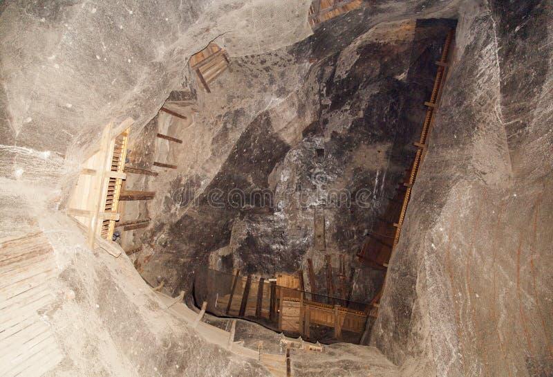 Salz-Minenschacht stockbild
