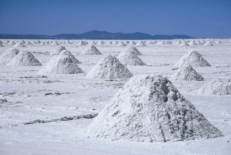 Salz-Pyramide, Bolivien stockbild