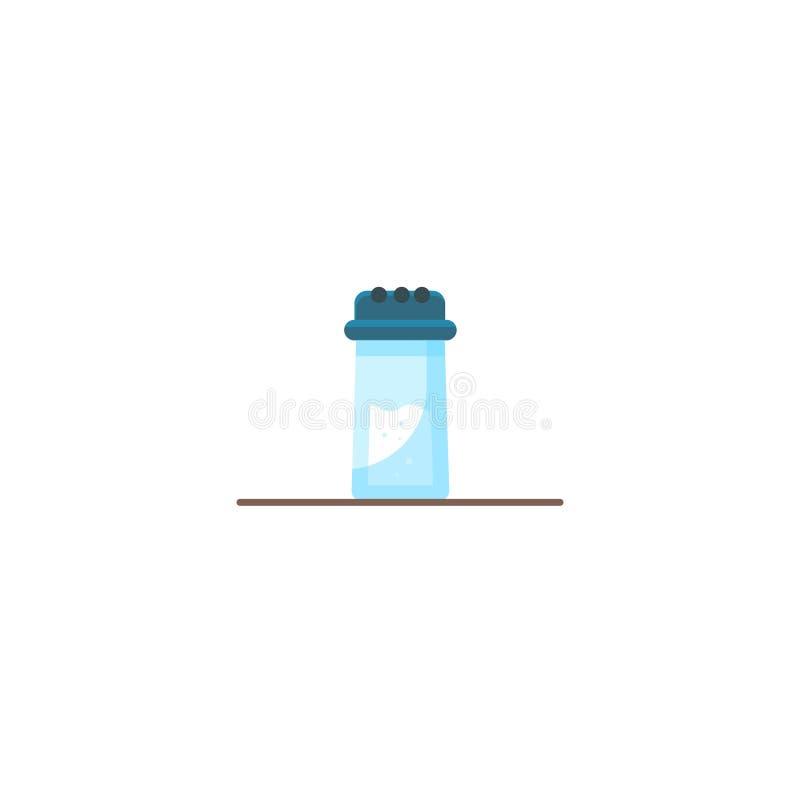 Salz-Schüttel-Apparat Flache Ikone der Vektorillustrations-Karikatur stock abbildung