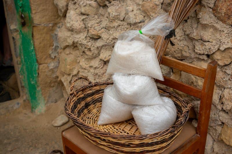 Salz-Taschen Gozo stockfoto
